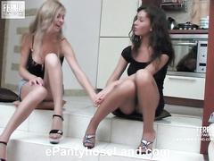 Elvira&Stephanie unpropitious pantyhose glaze
